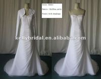 mother of the brides beading on strapless a line skirt with long sleeves jacket wedding dress