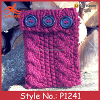 P1241custom knitted fancy purple laptop cover wholesale