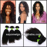 2013 new arrival 100% human virgin indian curly 26inch , 3pcs lot