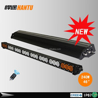 "46"" 240W led light bars off road lights amber auto light bars 10W chips single row headlight bar"