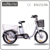 MOTORLIFE/OEM brand EN15194 36v 250w three wheel motor bicycle