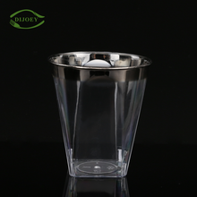Direct factory wholesale transparent raw materials hard juice polystyrene water clear dessert plastic cups disposable