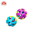 Multi Color plastic hollow plastic ball dog toy