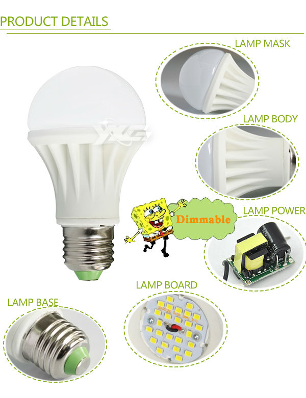 Dimmer Ceramic 5W dimmer led lamp