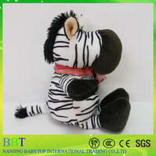 custom stuffed sitting zebra plush horse riding child toy