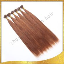 High quality keratin fusion tip 100% remy human hair extension, per- bonded hair i/u tip hair extensions