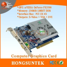 NVIDIA GeForce FX5500 256MB PCI DVI+VGA+S video PCI Video Card