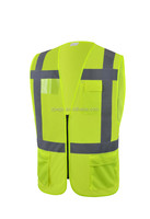 New design road security reflective safety vest with zipper
