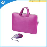Fashionable laptop leather sleeve for 11.6 inch
