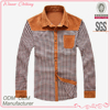 Newest Fashion Designed Men's Long Sleeve Stand Collar Casual Shirt