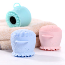 Soft Mini Double Side Octopus Shape Face Exfoliator Massage Silicone Cleaning Facial <strong>Brush</strong>