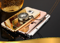 Luxury Aluminum Bumper High-end Clear Mirror Back Metal Case For Samsung Galaxy Note 3 Mirror Cover