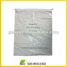 white plastic waterproof hotel mess laundry bag