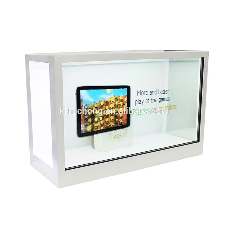video box advertising transparent display with lcd touch screen