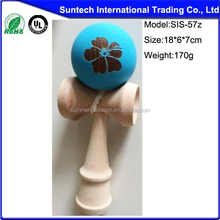 educational antique wooden toys wooden large-scale kendama for children