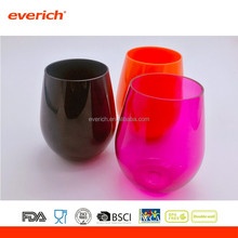 2017 hot new products Bpa free plastic drinking tritan wine cup