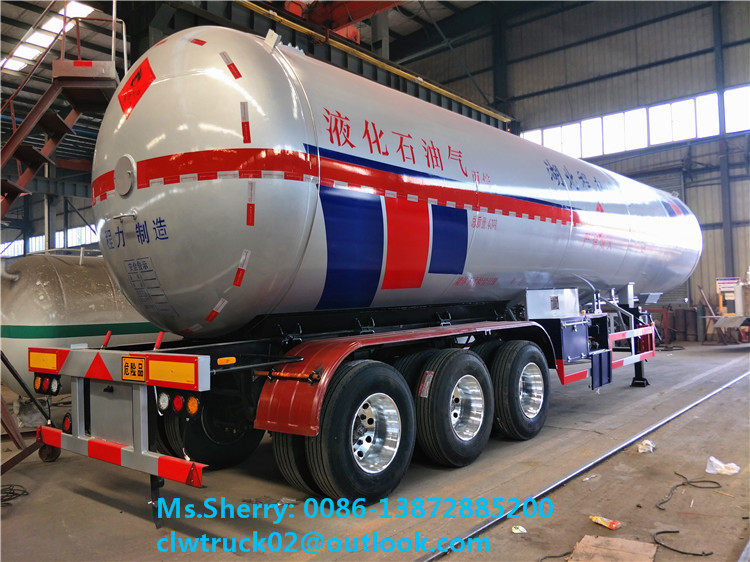 2017 New Style Q345R/Q370R 49.6m3 LPG Storage Tank Trailer for Sale in Iraq