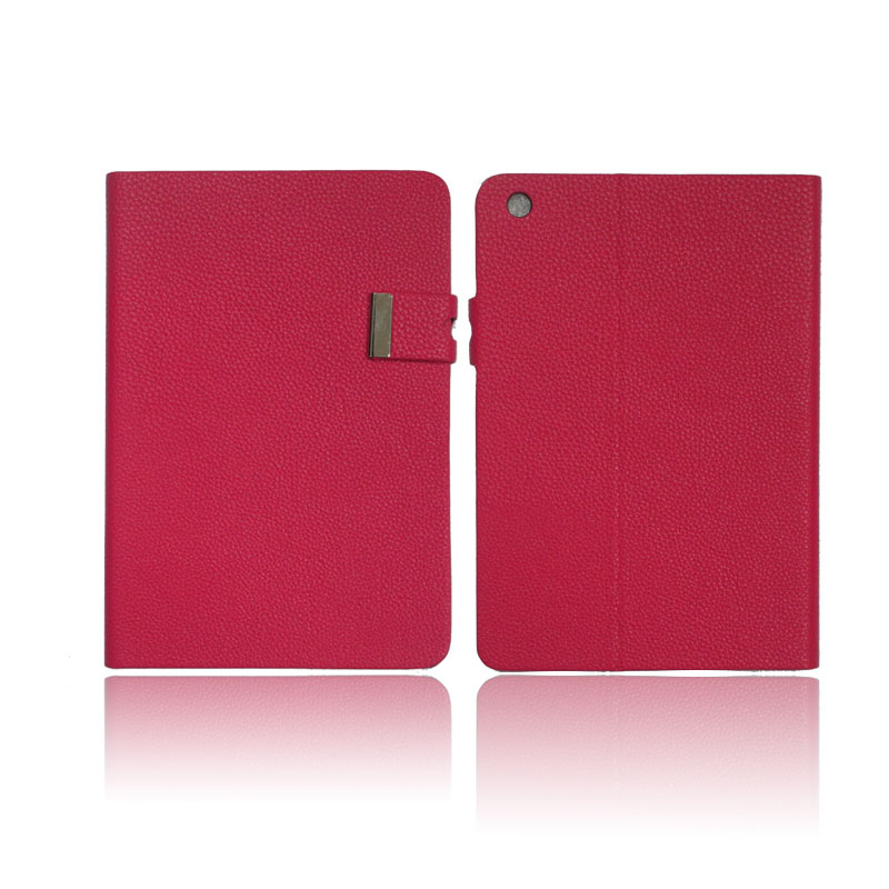 Hot Sales Simple Style PU Leather Case for iPad mini with good supporting