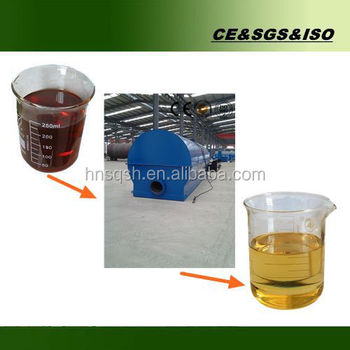 24-hours automatic 10 tons vacuum waste tire oil recycling machine