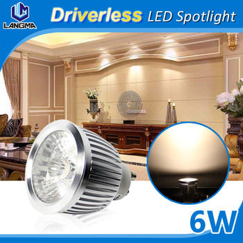 COB 6W Gu10/Mr16 Dimmable Spotlight, SAA FCC COB led spotlight, Driverless Design High Quality fully aluminum Led Light Spotligh