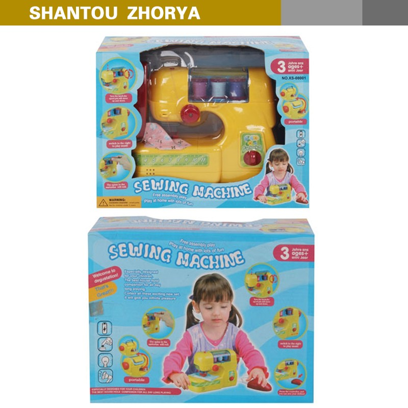 amazon hot sell electric girls mini sewing machine toy with button