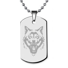 Fashion Stainless Steel Necklace Blank Pendant Logo Customize Army Military Dog Tags