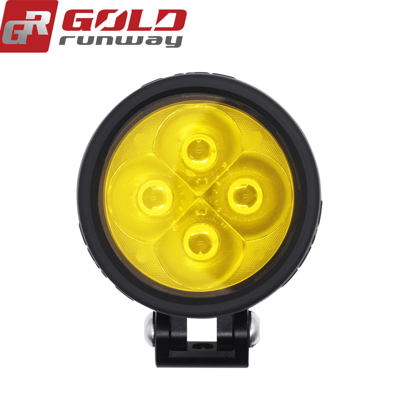 4 LED Universal Motorcycle Headlight Fog light Mirror Mount Driving Fog Spot Head Light