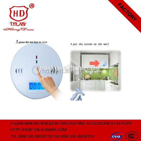 gas poisoning washing room use carbon monoxide meter gas detector