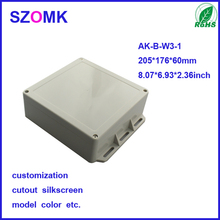 Plastic Industry Control Box as SZOMK Customized Wall Mounted Enclosure Which is IP65 Waterproof of 60*176*205mm