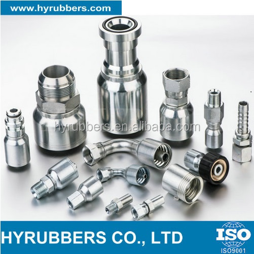 Reusable and crimp type fittings, NPT, JIC, BSP carbon steel hydraulic fitting