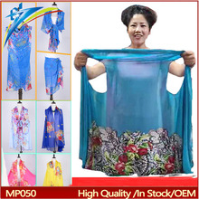 9 usage In Stock Fashion Women Summer Spring Soft Cool printed Scarf Chiffon Shawl
