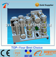 Continuous engine oil filter recycling machine,oil recycling,change the black color to yellow,no pollution