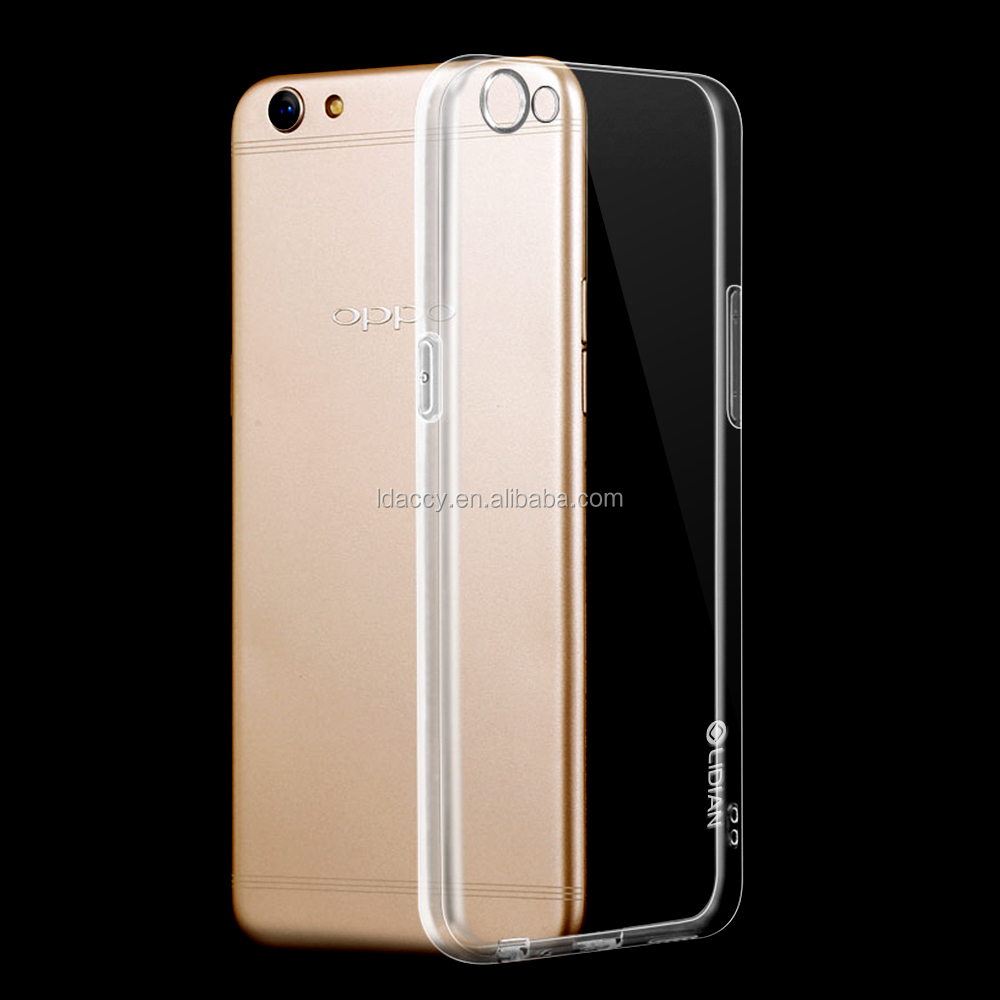 Transparent TPU long last pactory price phone cover case for Oppo r9s