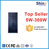 black color, A grade cell, high efficiency, pv module 80w poly solar panel