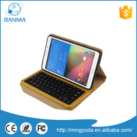 2 in 1 Detachable tablet pc leather case with bluetooth keyboard