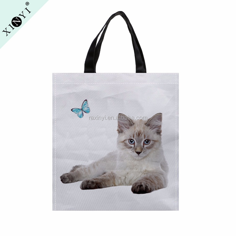 Custom eco cheap tote bag wholesale promotional non woven bag high quality printed nonwoven shopping bag