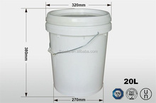 5 gallon high quality 100% virgin pp plastic round paint buckets with handle and lid in low price