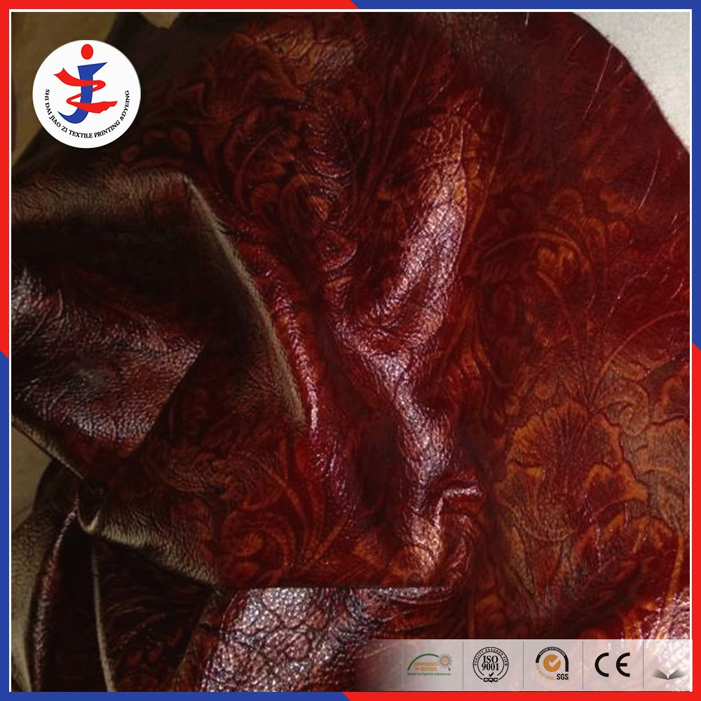 Embossed Genuine leather ecological cow leather for furniture sofa