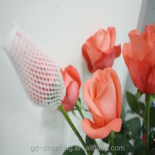 PE & EPE foam roses protective packaging tubular net