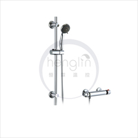 oval thermostatic shower valve with slider kit