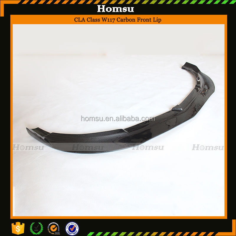 carbon fiber manufacturing Black Bumper Lip AG Style for CLA Class <strong>W117</strong> Vehicles (2013-In)