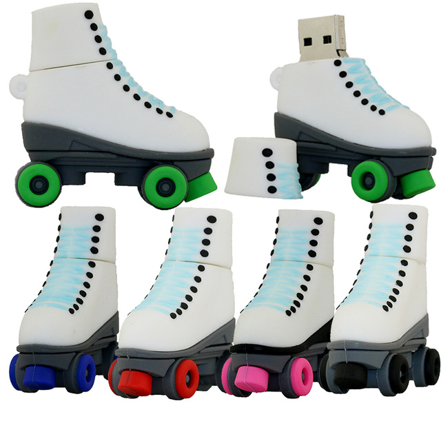 Funny skates model usb 2.0 memory stick pen drive full capacity 4gb 8gb 16gb
