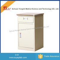 Good Quality Steel Hospital Bedside Cabinet with Drawer