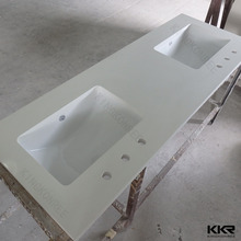 KKR China wholesales white artificial stone seashell countertops