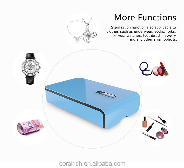 Healthy Life Mobile Phone UV Sterilizer Box Portable Househeld Sanitizer