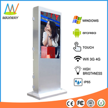 55 Inch Floor Stand Ip65 Waterproof Samsung Outdoor Tv For Advertising