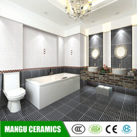 cheap bathroom ceramic wall tile black and white