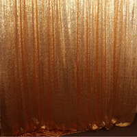 Wedding Sequin Flower Background Sequin Photo Backdrop Curtain,Decorative Gold Metal Sequin Curtains