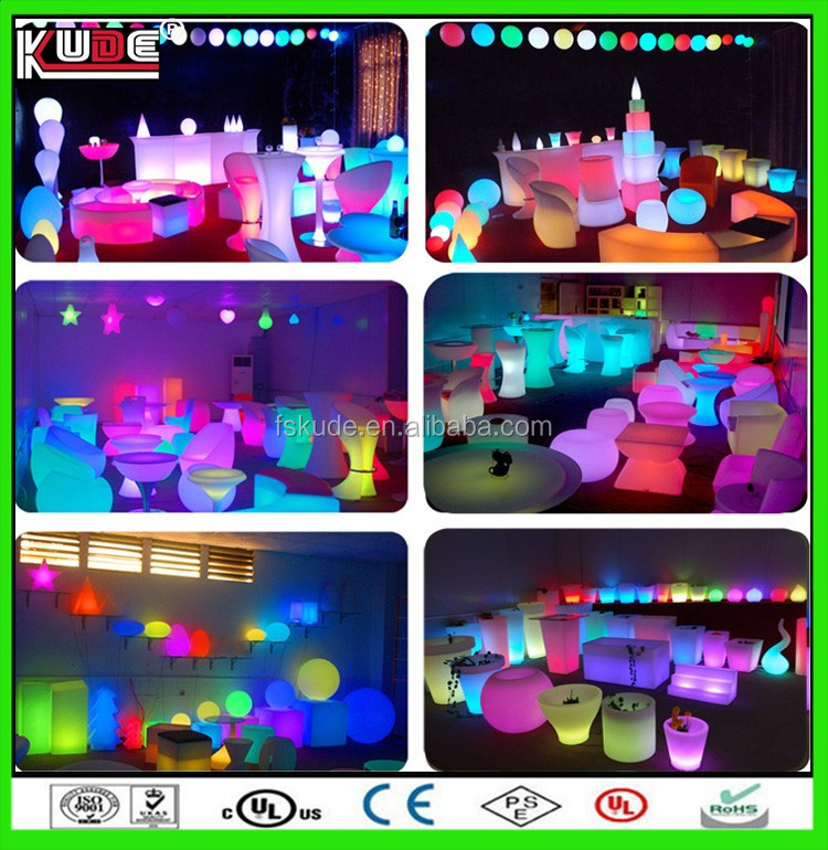 RGB led egg light under table lighting for wedding decoration lamp with remote