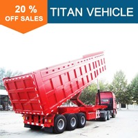 Titan Widely Used Tri Axle Commercial Dump Truck Trailer With Cheap Price